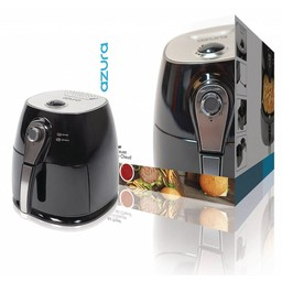 AzurA Hot Air Fryer 1400 W 3 l Zwart