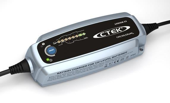 CTEK CTEK-oplader 12 V, 5 A LiFePo4 Automatische acculader 12 V