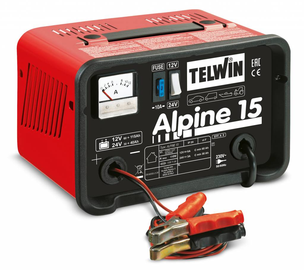 Telwin alpine 15 for Caricabatterie auto moto lidl