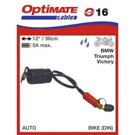 Tecmate Optimate adapter kabel voor motorstekker naar auto-uitgang O16