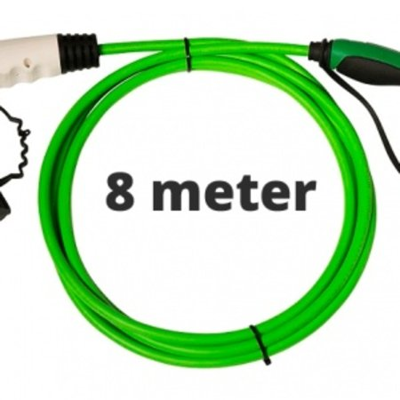 Ratio Laadkabel type 1 - 1 fase 16A - 8 meter