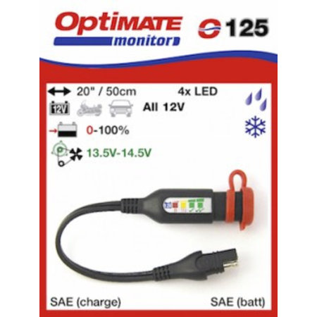 Tecmate Optimate accu monitor O125 - SAE - SAE