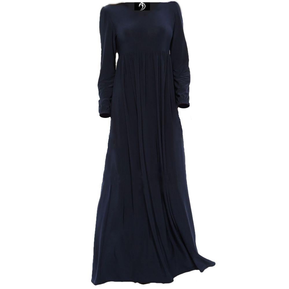 Navy High Waist Maxi Dress