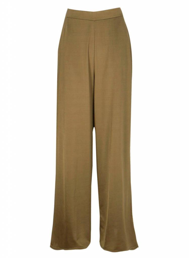 Olive Wide Leg Trousers