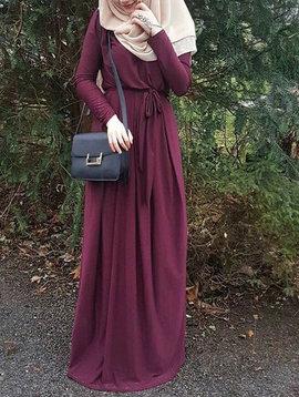 XTALL Bordeaux Draped Pleated Maxi Dress
