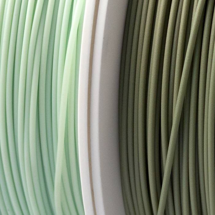 EUMAKERS 2,85 mm Bio Recycled PLA filamento, Verde