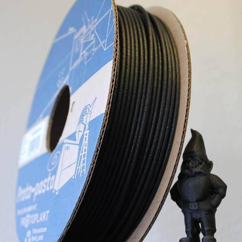 Proto-pasta 1,75 mm Matte Fiber HTPLA filamento, Nero