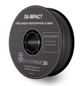 Black Magic 3D 1.75 mm G6-Impact HIPS Carbon Fiber Graphene filament, Black