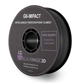 Black Magic 3D 1,75 mm G6-Impact HIPS filamento con fibre di carbonio e grafene, Nero
