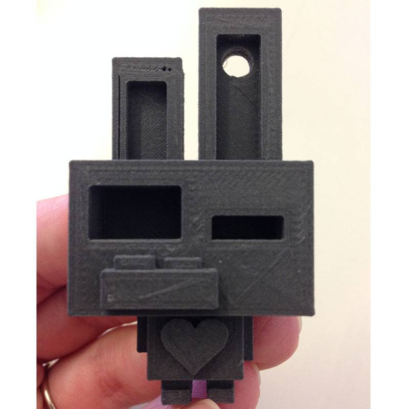 Proto-pasta 1.75 mm Magnetic Iron PLA filament, Black