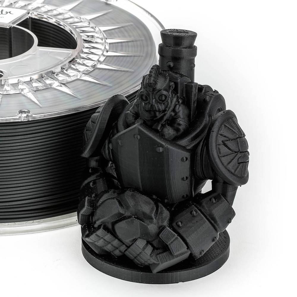 Extrudr 1.75 mm PLA NX2 filament Matt finish, Black