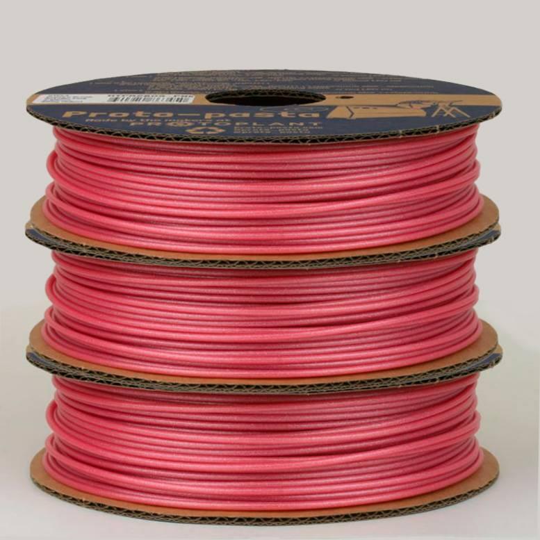 Proto-pasta 1,75 mm HTPLA filamento, Cupid's Crush Metallic Pink