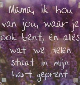History & Heraldry Sentiment Magneet Mama, ik hou van...