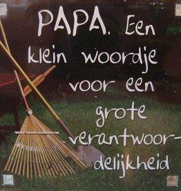 History & Heraldry Sentiment Magneet Papa. Een klein...