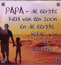 History & Heraldry Sentiment Magneet Papa - de eerste...