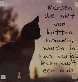 History & Heraldry Sentiment Magneet Mensen die niet van katten houden...