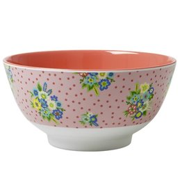 Rice Kom Melamine Two Tone l.roze - Rice