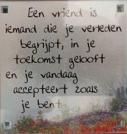 History & Heraldry Sentiment Magneet Een vriend is...
