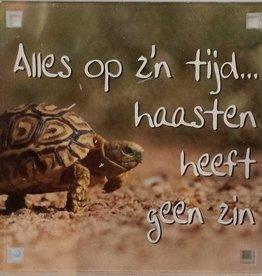 History & Heraldry Sentiment Magneet Alles op z'n tijd...