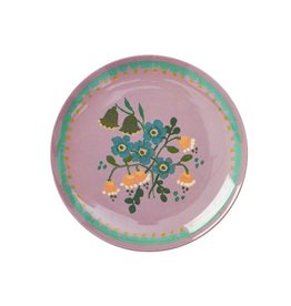 Rice Gebaksbordje Melamine Dusty Lavender Flower Print - Rice