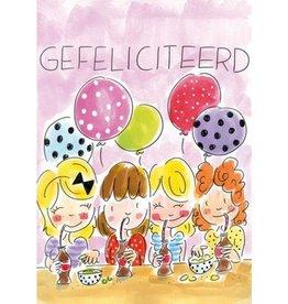 Blond Amsterdam Kaart A4 Gefeliciteerd - Blond Amsterdam