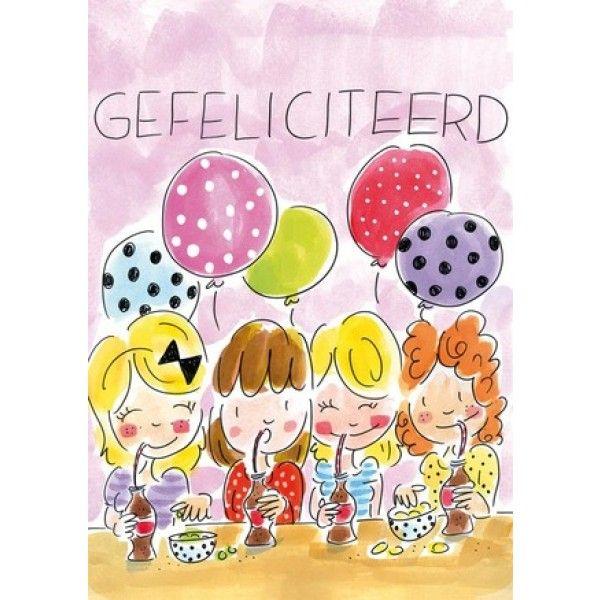 kaart gefeliciteerd Blond Amsterdam Kaart A4 Gefeliciteerd   Blond Amsterdam  kaart gefeliciteerd