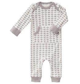 Fresk Pyjama zonder voet Leaves grijs 0-3mnd - Fresk