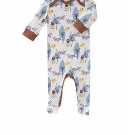 Fresk Pyjama met voet Fox blauw 3-6 mnd - Fresk