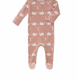 Fresk Pyjama met voet Walvis mellow rose 3-6mnd - Fresk