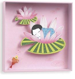 Djeco 3D Schilderij Meisje op lelie- Djeco