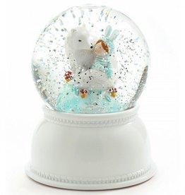 Djeco Nachtlampje Lila en Pupi met dwarrelende sneeuwvlokjes - Djeco