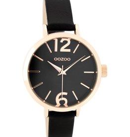 OOZOO Horloge black rosé 35mm C7984 - OOZOO