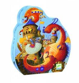 Djeco Puzzel Ridders en Draken 54 stukjes +5jr - Djeco