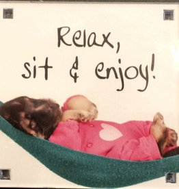 History & Heraldry Sentiment Magneet Relax, sit & Enjoy