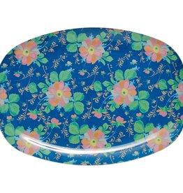 Rice Bord ovaal Melamine Blue Bold Flower Print - Rice