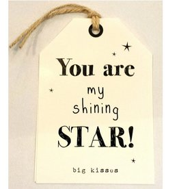 Wenskaart You are my Shining Star - Rebel30