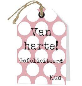 Wenskaart Van Harte Gefeliciteerd - Rebel30