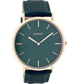 OOZOO Horloge Vintage blauw groen 44mm C8133 - OOZOO