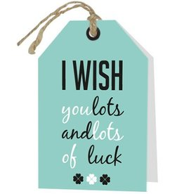 Wenskaart I Wish you lots and lots of luck - Rebel30