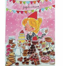 Blond Amsterdam Kaart A4 Gefeliciteerd! - Blond Amsterdam