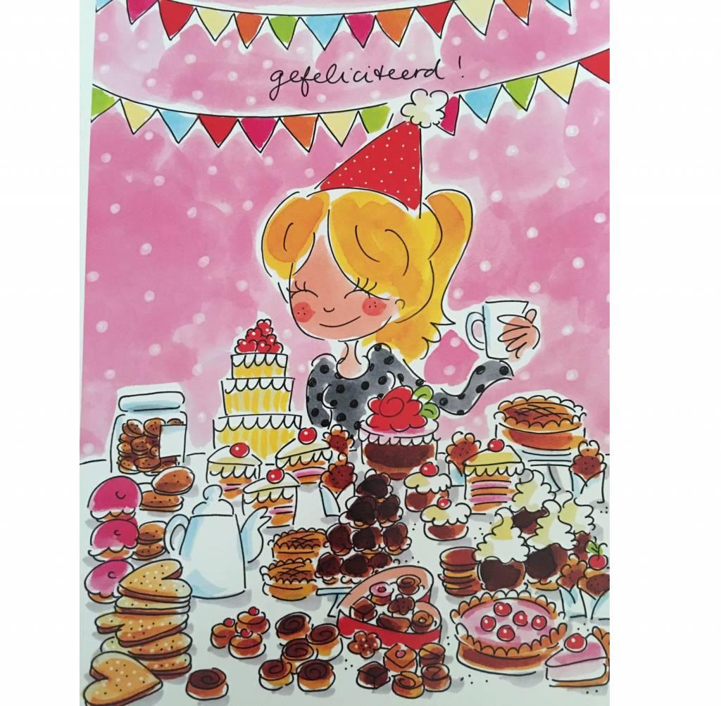 kaart gefeliciteerd Blond Amsterdam Kaart A4 Gefeliciteerd!   Blond Amsterdam  kaart gefeliciteerd