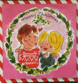 Blond Amsterdam Doosje Kerstkaarten Mistletoe 10 stuks - Blond Amsterdam