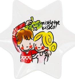 Blond Amsterdam Kerst Schaaltje 12cm Mistletoe - Blond Amsterdam