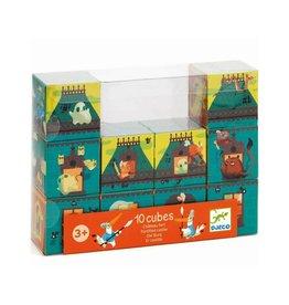 Djeco Blokken puzzel 10delig Kasteel blauw +3jr - Djeco