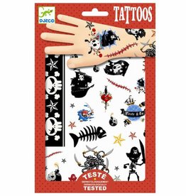Djeco Tattoos Piraten 2vellen +3jr - Djeco