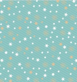 Artebene Servetten met sterren 33x33cm groen - Artebene