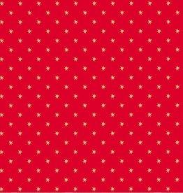 Artebene Servetten met sterren 33x33cm rood - Artebene