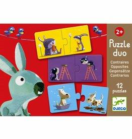 Djeco Puzzel duo Tegenstellingen +2jr - Djeco