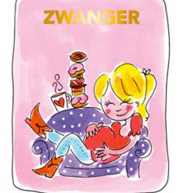 Blond Amsterdam Zwanger Tea card roze - Blond Amsterdam