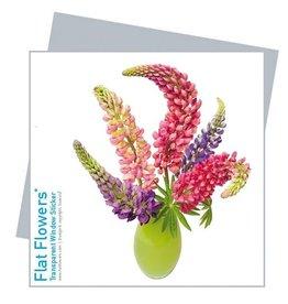 Flat Flowers Wenskaart + Raamsticker Lupine - Flat Flowers